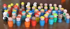 Vintage Fisher Price Little People 62 Piece Lot Assorted Figures VGUC