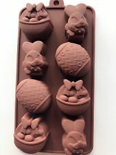 Easter Egg Bunny Chocolate Cake Cookie Silicone Baking Mold Mould Decorating