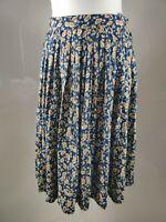 Vintage Women Skirt Aline Floral Ditsy Print Pleated High Waist Blogger UK 10