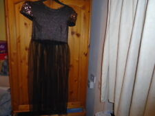 Eye-catching gold and black dress, sheer net skirt, ALICE, 8-10, NEW w TAG BNWT
