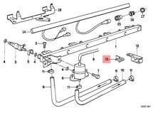Genuine BMW E30 E34 Z1 Estate Roadster Fuel Pump Bracket OEM 13311726942