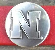 Lot of four Nebraska Cornhuskers conchos dipped in pure silver FREE ship