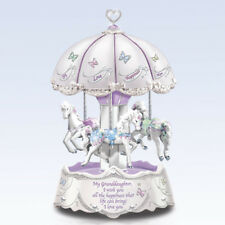 Granddaughter I Wish You Happiness Horse Musical Carousel Illuminated Bradford