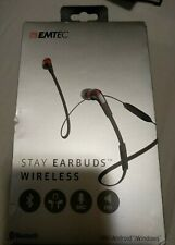NEW~EMTEC ECAUDE200BT Stay Earbud Wireless for iPhone and Mobile Devices,