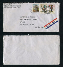 Portugal Angola 1966 Cover to USA, ANIMALS MILITARY UNIFORMS