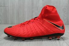 38 Nike Hypervenom Phantom III 3 DF AG Pro Red/Black Cleats Mens 12 852550-617
