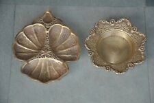 2 Pc Old Brass Inlay Engraved Unique Fine Handcrafted Dry Fruit Bowls