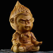 Boxwood Wood Carving Sun Wukong Monkey King Hand-Carved Sculpture Collection