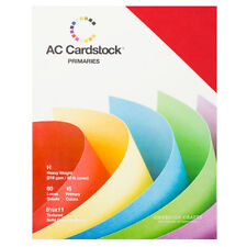 """American Crafts 8.5"""" x 11"""" Primary Cardstock Pack - 15 Solid Colors, 60 Sheets"""