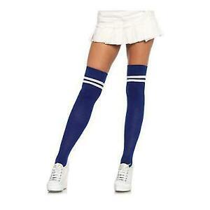 New Leg Avenue 6605 Athletic Ribbed Thigh High Stockings