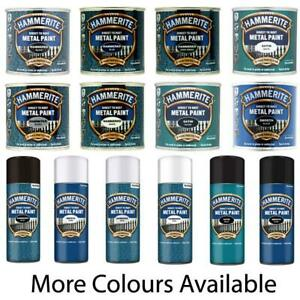 Hammerite Direct To Rust Quick Drying Metal Paint - All Colour 250ml - 400ml