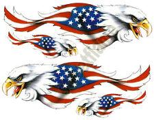 AMERICAN USA FLAG EAGLE DECAL STICKER EMBLEM GRAPHIC HELMET SKATEBOARD SNOWBOARD