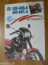 D453 BROCHURE PROSPEKT CZ CAGIVA 125 4884,180487.4 ENGLISH 2 PAGES NOT 100 % OK