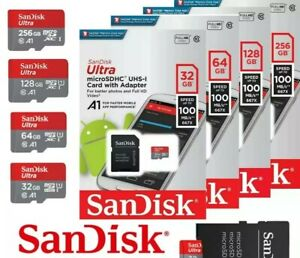 SanDisk Ultra MicroSD 16 To 512GB Class10 SDHCSDXC 100MBs Memory Card+Adapter