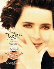 Publicité Advertising 117  1994   parfum Trésor de Lancome  Isabella Rossellini