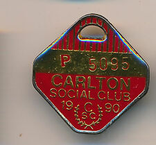 1990 Carlton Football Social Club Pensioner Enamel medallion badge