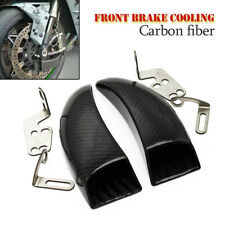 2PCS Carbon Fiber Racing Front Brake Duct Cooling Fit for Kawasaki YAMAHA HONDA