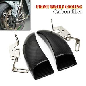 2PCS Carbon Fiber Racing Front Brake Duct Cooling Fit for Kawasaki YAMAHA HONDA