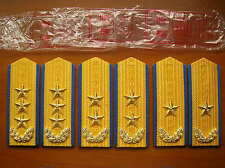 87's series China PLA Air Force General Hard Shoulder Boards,3 Pair,Set.