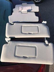 2004-2014 NISSAN TITAN SUN VISORS Gray OEM Driver & Passenger LIGHTED Sunvisors