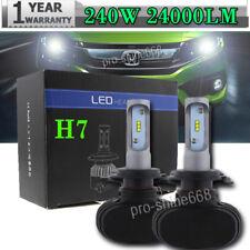 One Pair Car H7 240W 24000LM CSP High Power LED Headlight Bulb Lamp Kit 6K White
