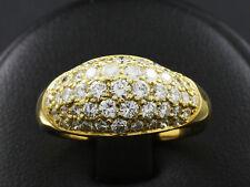 Moderner Brillant Bandring ca. 1,25ct mit großer Ringweite 60  750/- Gelbgold