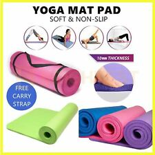 Thick Yoga Mat Pad Foam NBR Non-Slip Exercise Fitness Pilates Gym Durable Carry