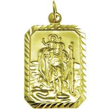 LARGE 9CT GOLD ST SAINT CHRISTOPHER PENDANT - 4.6g