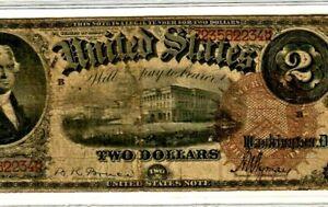 "$2 ""THOMAS JEFFERSON"" 1880 ""LEGAL TENDER"" (LARGE BROWN SEAL) 1880 CRISPY NOTE!!!"