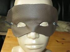 Braune Augenmaske, Fetischmaske echt Leder