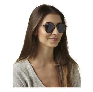 Ray Ban Round 49 Sunglasses Brown/Blue Fleck