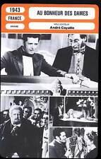 FICHE CINEMA : AU BONHEUR DES DAMES - Simon,Cayatte 1943 - Shop Girls of Paris