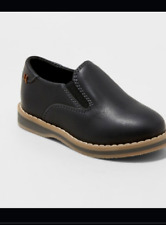 Cat & Jack Neal Boys Black Loafers Shoes - Size 12 - NEW
