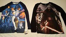 Men's XXL Star Wars  Long Sleeve Graphic T-Shirts, set of 2, NWT