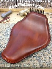 Rich Phillips Leather Motorcycle Spring Seat Harley Sportster Bobber Chopper Bro
