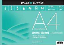 Daler Rowney A4 BRISTOL BOARD Pad 250gsm Artist Smooth White Airbrush Paper