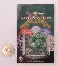 Q-workshop D20 Green & White Card Game Level Life Counter 20LEV14 Magic MTG