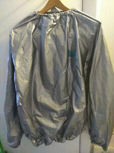Natural Fitness Warrior Sauna Suit TOP Size Medium - Gray - Free Shipping