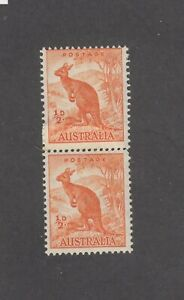 """1942 ½d Kangaroo Watermark """"COIL PERF PAIR"""" SG 179b MUH with central coil join."""