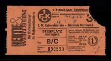 Eintrittskarte 1977-78 1 FC Kaiserslautern-Borussia Dortmund Bundesliga+A 146232
