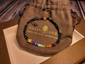 Grounded in Balance - Gold OM Hematite Crystal Chakra Bracelet by Karma and Luck