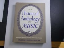 * Historical Anthology of Music Songbook hard cover d/jBaroqu-Rococo-Preclass ic