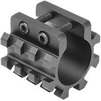 "NcSTAR VISM Black MT12G 1"" Shotgun Magazine Tube Weaver/Picatinny Adapter Mount"