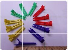 red blue yellow Plastic Double Prong Hair  Grip Alligator Clips Hair Clip Bows