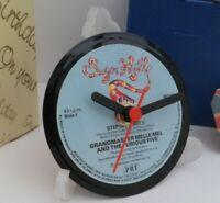 *new* GRANDMASTER MELLE MEL VINYL RECORD CLOCK actual SINGLE RECORD CENTRE