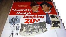 laurel et hardy LAUGHING 20's'' !  rare affiche geante 200x200cm 1965