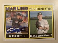 Chris Reed 169 2016 Topps Heritage Rookie Stars Miami Marlins RC Auto Autograph