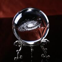 60MM Crystal Ball Globe Galaxy Miniatures 3D Laser Engraved Glass Ball Sphere