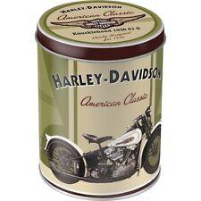 Barattolo in Latta Harley-Davidson Knucklehead contenitore Vintage 10 X H.13