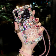 Crystal Rhinestone Diamond Holder Stand Case for iPhone XS XR 11 Pro Max 6 7 8